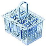Spares2go - Cesta para cubiertos para lavavajillas Indesit (azul claro)
