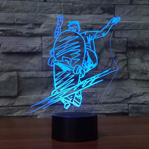 3D Led Mode Rutsche Platte Form Tischlampe 7 Farben Street Art Skateboard Nachtlicht Lampe Junge Nachttischlampe Leuchte Decor