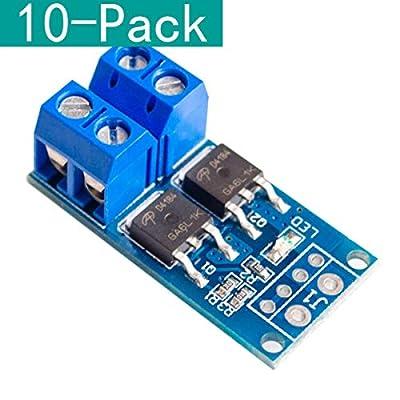 YOUMILE 10pcs 15A 400W MOS FET Trigger Switch Drive Module PWM Regulator Control Panel