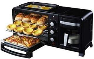 N / B Machine de Petit-déjeuner Multifonction en Acier Inoxydable 3 en 1, Four à café de Grande capacité, Coquille de qual...