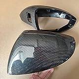 4pcs / set Reemplazo de fibra de carbono ala lateral retrovisor espejo retrovisor del ajuste de la cubierta del caso de Shell para Audi A7 S7 RS7 4G A6 A8 C8 D5 ( Color : 18 19 A6 A7 A8 2pcs )