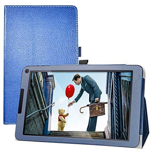 LFDZ Cover Fusion5 104Bv2,Slim Ultra Pelle Sottile e Leggera Cover Case Custodia per 10.1' Fusion5 104Bv2 / 104Bv2 Plus Tablet(Non Compatibile Fusion5 104Bv2 PRO),Blu