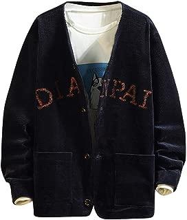 Beautyfine Coat, Men Autumn Winter Corduroy Large Pocket Long Sleeve Solid Color Jacket