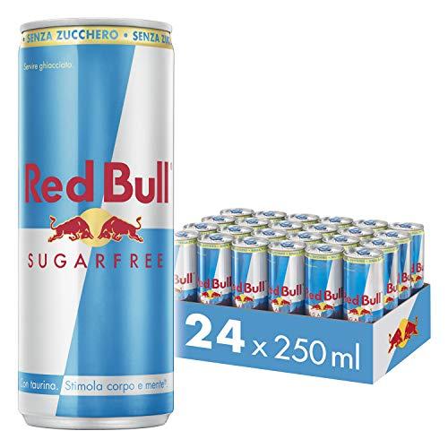 Red Bull Energy Drink, Senza Zuccheri, 250 ml (24 Lattine)