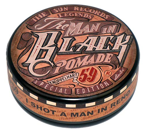 Rumble 59 Schmiere Special Edition The Man In Black Very Strong Hold Oil Based Pomade 4.7oz