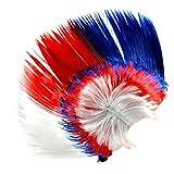 ENET Unisex 70s 80s Punk Mohican Rocker Wigs Mohawk Wig Party Fancy Costume Mohawk