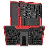 Kemocy Funda para Lenovo Tab M10 HD 2nd Gen TB-X306F/TB-X306X, Carcasa en PC y TPU con Soporte Protección para Lenovo Tab M10 HD 2nd Gen 10,1 Pulgadas Tablet,Rojo
