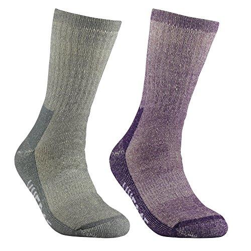 YUEDGE 2 Pairs Women's Cushion Merino Wool Thermal Winter Sports Hiking Socks(XL)