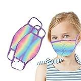 Blingko 2 /3Stück Kinder Mundschutz Wiederverwendbar Niedliche Druck Waschbar Atmungsaktive Staubdicht Mund und Nasenschutz Halstuch für Jungen und Mädchen