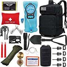 EVERLIT 42L Tactical Backpack Survival Kit Bugout Bag Assault Pack Rucksack with Hydration Bladder and Survival Gear 3 Day Rucksack Molle Outdoor Hiking Daypack Hunting (Black)