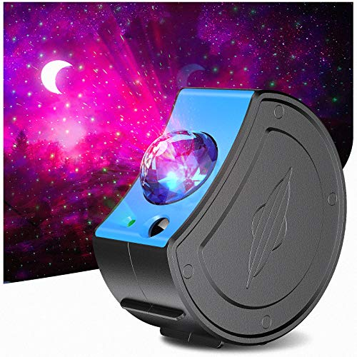 Star Projector Night Light 5 in 1 with Remote Control, Zenoplige Galaxy LED Projector Movable Nebula Cloud Colorful for Kids Youth, Ideal Decoration Gift Baby Bedroom, Game Rooms, Home Theatre (Blue)