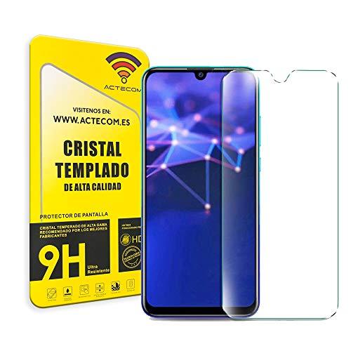 ACTECOM® PROTECTOR PANTALLA PARA HUAWEI P SMART 2019 CRISTAL VIDRIO TEMPLADO (Cristal Templado)