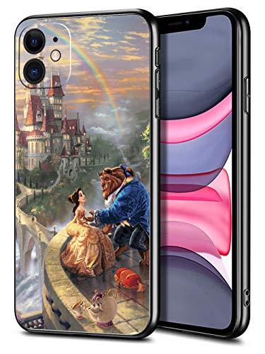 for iPhone 11 Case TPU Soft Bumper Hard PC Slim Protective Back Cover 6.1-Inch (Beauty Belle Beast)