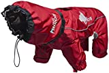 DOGHELIOS 'Weather-King' Windproof Waterproof and Insulated Adjustable Full Bodied Pet Dog Jacket Coat w/ Heat Retention Technology, Large, Red