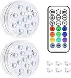 Jirvyuk - Luz LED sumergible, magnética para piscina, IP68, impermeable, 16 RGB...