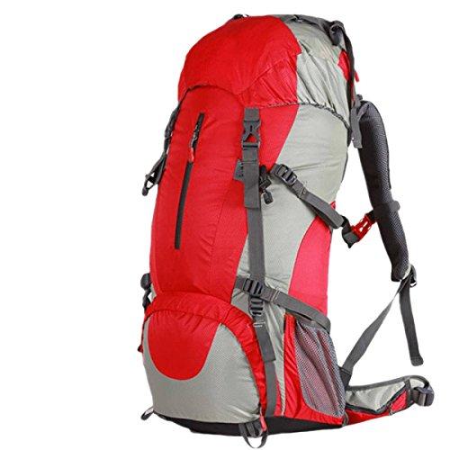 Sacs D'alpinisme En Plein Air 60L Randonnée Imperméable Résistant à La Déchirure Sac à Dos Grande Capacité,Red50L