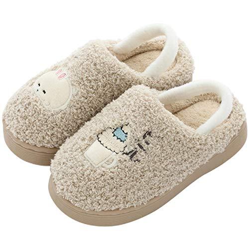 Zapatillas de casa para niños Calzado de Piso cálido Interior Calzado de bebé Suave y cálido de algodón Animal
