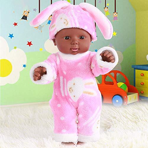 Cabina - Bambolotto Reborn in vinile morbido in silicone realistico, giocattolo per bambini e bambine, 30 cm (rosa #1)