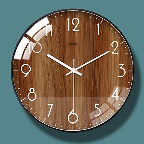 Vintage Retro Klok van de Muur, Met Iron Hands 3D Color Gold Large Wall Clock, Grote Vintage Metal Romeinse cijfer Antique Skeleton Opknoping Wall Clock,B,12 inches