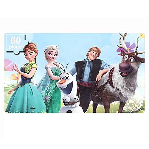 NEILDEN Disney Frozen Puzzles in a Metal Box 60 Piece Jigsaw Puzzle for Kids Ages 4-8 Puzzles for Girls and Boys Great Gifts for Children ( Frozen )