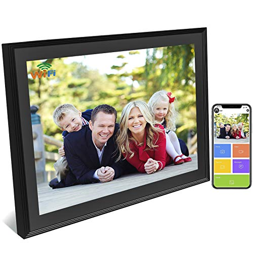 WiFi Digital Picture Frame 10.1 Inch Touch Screen, Digital Photo Frame Classic Unlimited Cloud Storage HD Smart Electronic Picture Frame Wireless Share Video Clips and Photos Instantly via E-Mail &App
