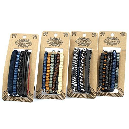 Beespoke Gifts Conjunto de pulseras para hombre - Moody & Blue (asst)