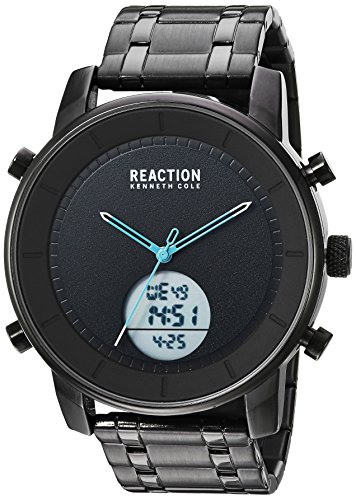 Kenneth Cole REACTION Men's RK50083009 Analog-Digital Display Analog Quartz Black Watch