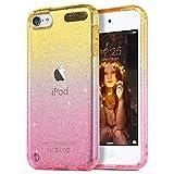 ULAK Funda para iPod Touch 7, iPod Touch 5/6/ Carcasa a Prueba de Golpes de Estuche Parachoques de Resistente Caso de protección Suave de TPU para iPod Touch 5/6/7 - Rosa Amarillo