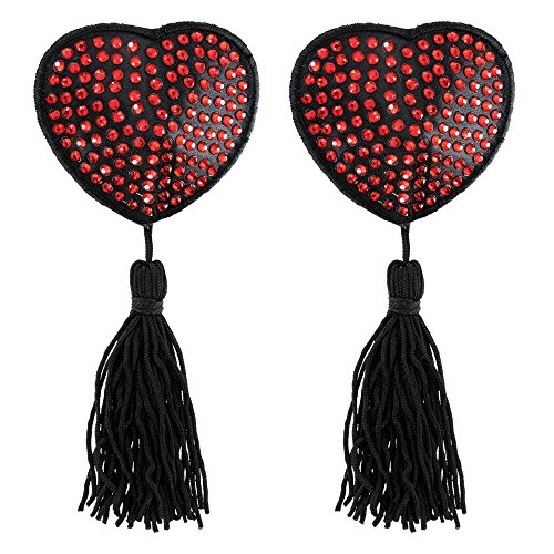 Paris Hollywood Pezoneras Corazon con Brillantes - 2 Piezas