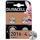 Duracell Pilas de botón de litio 2016 de 3 V, paquete de 4, con Tecnología Baby Secure, para uso en llaves con sensor magnético, básculas, elementos vestibles, dispositivos médicos DL2016/CR2016