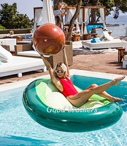 Avocado Inflatable, Giant Avocado Pool Floats PVC Inflatable Rafts with Rapid Valves Summer Beach Swimming Pool Party Toys Suitable for...
