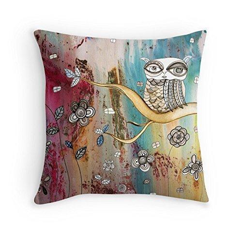 Surreal Owl II throw pillow original
