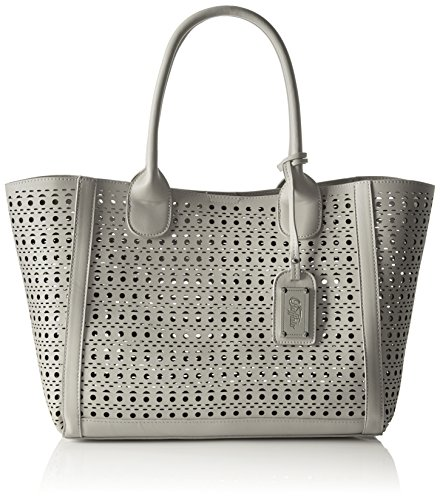 Buffalo BAG 601959 LEATHER PU Damen Henkeltasche 17x25x34 cm (B x H x T), Grau (GREY 17)