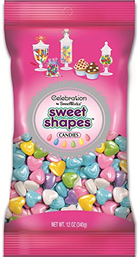 Sweetworks Celebrations Shimmer Pastel Hearts