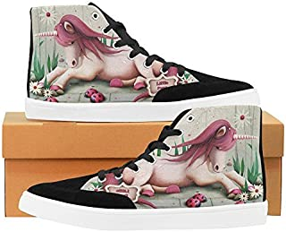 Pony Unicorn High Top Shoes for Women