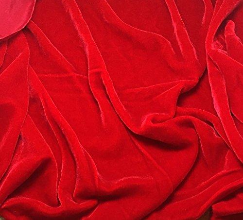 Scarlet Red - Silk Velvet Fabric