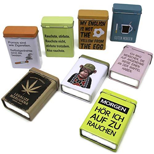 Bada Bing 8er Set Zigarettendose Zigarettenetui Zigarettenbox Hardcase Metall TT