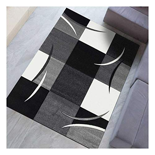 Un Amour DE Tapis - Diamond Comma - 80x150 cm - Tapis Moderne Design - Tapis entrée et Tapis Chambre - Tapis Violet, Gris, Noir, créme - Couleurs et Tailles Disponibles