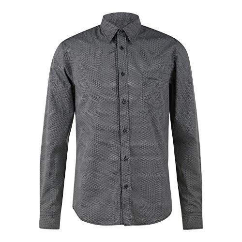 BOSS Marvyn 10232578 01 Camisa, Negro1, L para Hombre