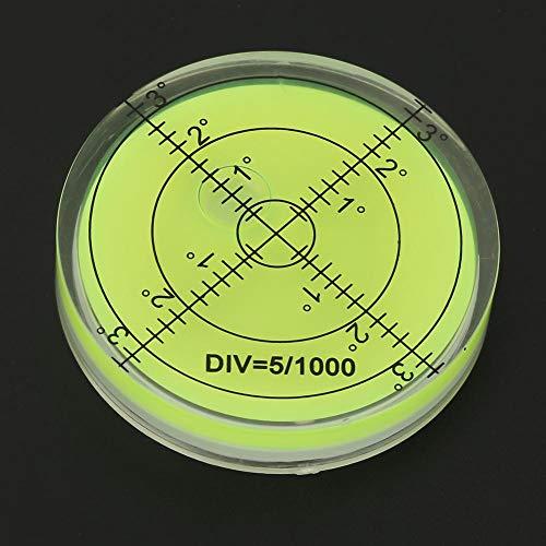 Bolla di livello 60 mm, strumento di misurazione diametro 60 mm Bolla a livello rotondo con scala per piattaforma telecamera Strumento di misurazione del bilanciamento righello Livello di