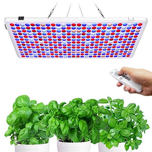 Relassy LED Grow Lampe 300W, Dimmbar LED Pflanzenlampe Vollspektrum mit Timer, Pflanzenlicht Fernbedienung Grow Light mit 338 LEDs Wachstumslampe für Zimmerpflanzen Gewächshaus Blühen
