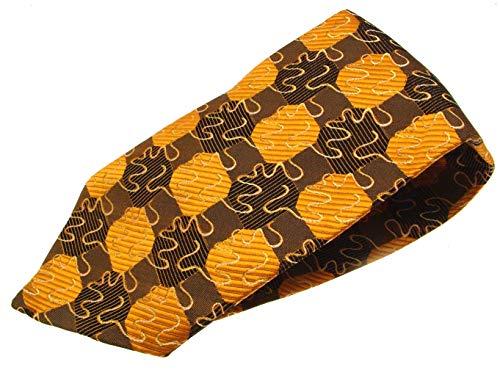 IAuctionShop Cravate en Soie pour Homme Marron et Orange