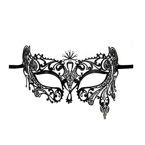 VABNEER Maschere Veneziane Donna Maschera Pizzo Veneziana con Strass Maschera di Lusso Mascherina del Vestito Operato della Sfera di Promenade del Partito di Halloween del Carnevale di Halloween