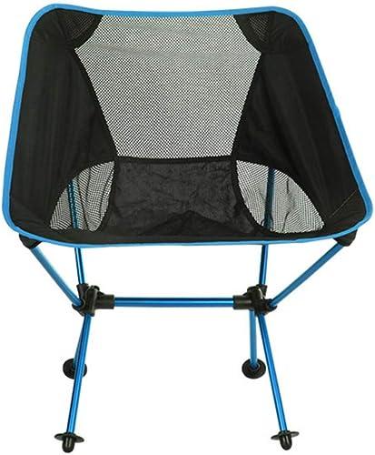 QHUIMIN Chaise Pliante Externe Chaise De Lune portable en Alliage D'Aluminium Ultra-LéGer Loisirs Chaise De PêChe en Camping Chaise De Jardin en Camping,bleu