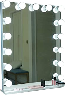 Beauty Mirror Vanity Makeup Mirror with Led Lights Touch Screen, Metal Frame Base Easy to Removable for Hair Salon Photo Studio Dressing Mirror (Color : Monochromatic)