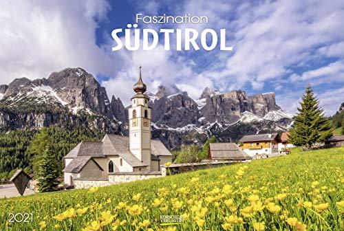 Faszination Südtirol 2021: Großer Foto-Wandkalender mit Bildern aus Nord-Italien. PhotoArt Panorama Querformat: 58x39 cm.