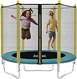 "Recreational Trampolines, Kalkal 60"" Trampoline for Kids, Indoor Outdoor 5ft Kids Trampoline with Enclosure Net for Toddler, Nice Gift, Age 3+"