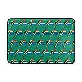 dingjiakemao South Africa Logo FlagNon Slip Doormat Entrance Mat Floor Mat Rug Indoor Outdoor Front Door Bathroom Mats 23.6 x 15.7 Inches(40x60cm)