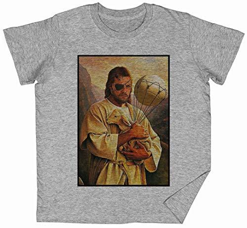 Veneno Jesús Serpiente Gris Niños Chicos Chicas Camiseta Unisexo Grey Kid's Boys Girls tee