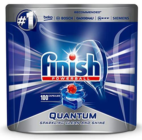 Spülmaschinentabs Finish Quantum 100 Stück - Powerball - Kraftvolle Reinigung, Fettlösekraft und Glanz - Finish Tabs 100 Stück